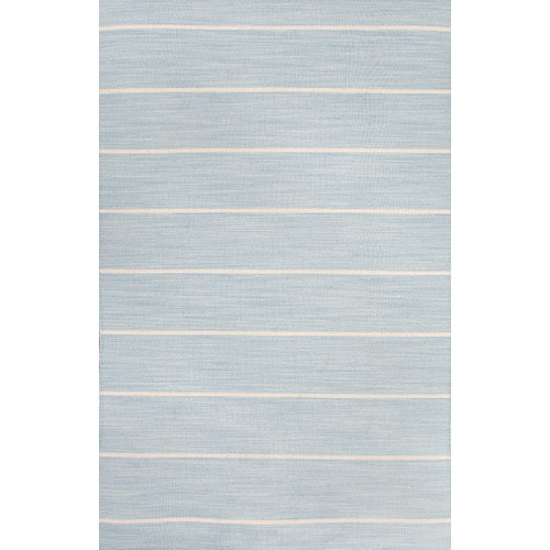 4' x 6' Dove Blue and Vaporous Gray Cape Cod Flat Weave Wool Area Throw Rug - IMAGE 1