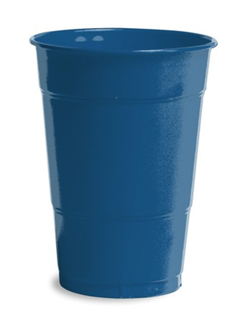 Club Pack of 240 Navy Blue Disposable Drinking Party Tumbler Cups 16 oz. - IMAGE 1