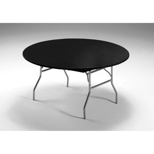 """Club Pack of 12 Black Round Disposable Party Table Covers 60"""" - IMAGE 1"""