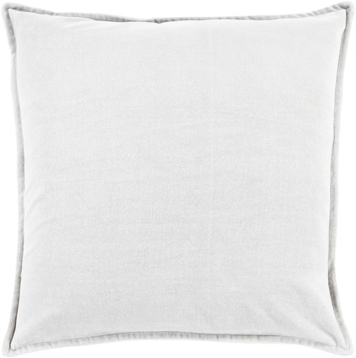 "22"" Solid Light Haze Gray Contemporary Woven Decorative Throw Pillow – Down Filler - IMAGE 1"