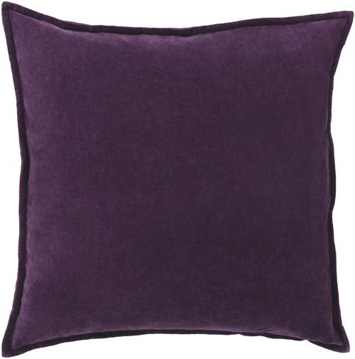 "20"" Calma Semplicita Eggplant Purple Decorative Square Throw Pillow - Down Filler - IMAGE 1"