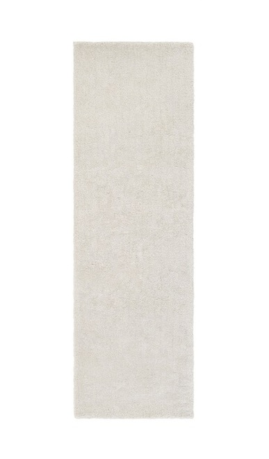 2.5' x 8' Pearl Gray Contemporary Plush Area Throw Rug Runner - IMAGE 1