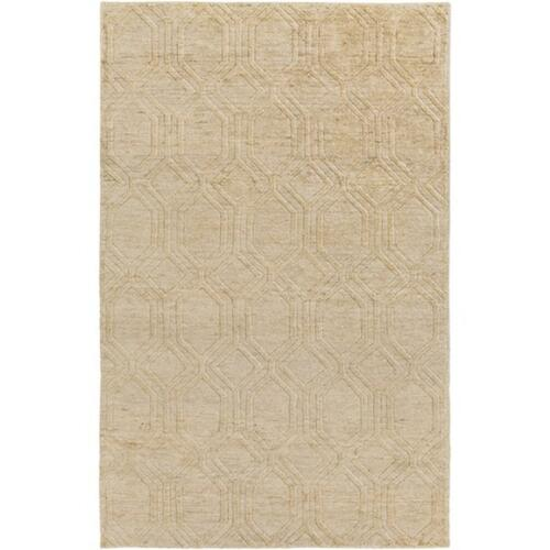 2' x 3' Athenian Boulevard Ivory White and Copper Brown Area Throw Rug - IMAGE 1