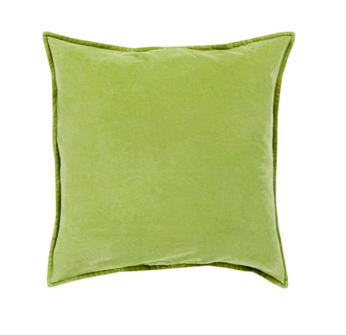 "20"" Green Contemporary Square Decorative Throw Pillow - Down Filler - IMAGE 1"