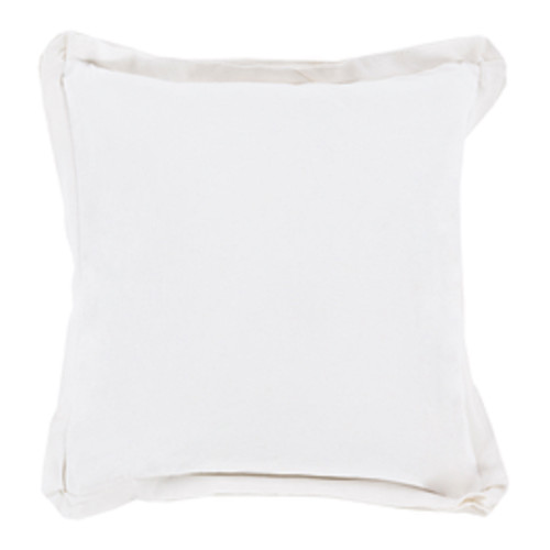 "20"" Vanilla White Vanilla White Contemporary Square Throw Pillow - Down Filler - IMAGE 1"