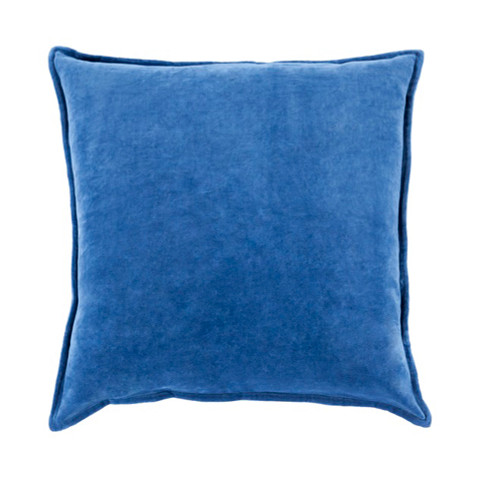 """22"""" Shaded Azure Blue Contemporary Woven Decorative Throw Pillow – Down Filler - IMAGE 1"""