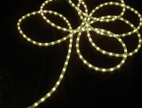 Lime Green Commercial Length Christmas Rope Lights on Spool - 100 ft White Wire - IMAGE 1