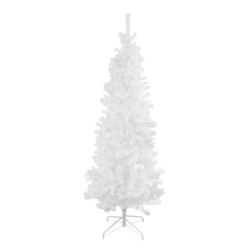 6.5' White Winston Pine Slim Artificial Christmas Tree - Unlit - IMAGE 1