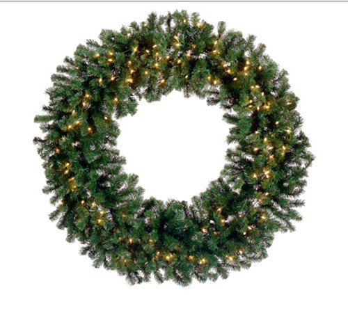 """72"""" Pre-Lit Deluxe Windsor Pine Artificial Christmas Wreath - Clear Lights - IMAGE 1"""