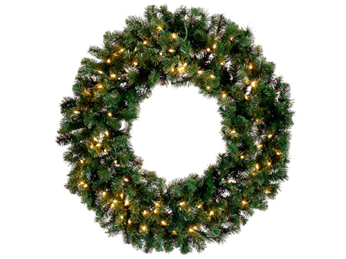 """36"""" Pre-Lit Deluxe Windsor Pine Artificial Christmas Wreath - Clear Lights - IMAGE 1"""