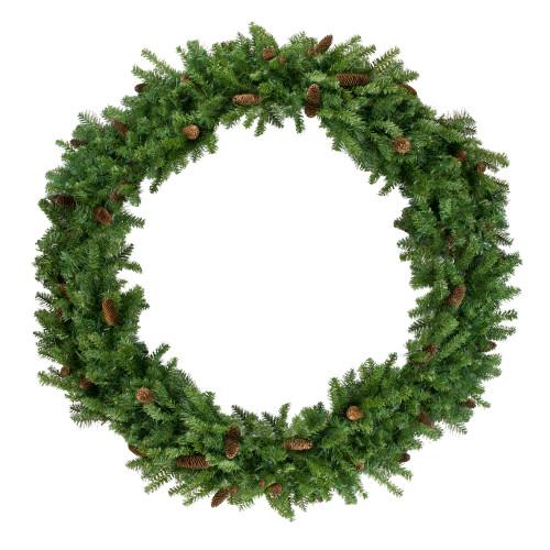 Dakota Red Pine Commercial Artificial Christmas Wreath - 5-Foot, Unlit - IMAGE 1