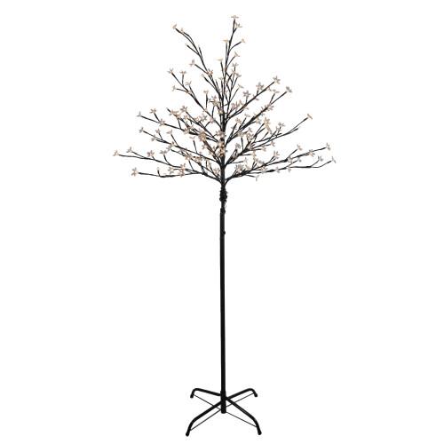 6' LED Lighted Cherry Blossom Flower Tree - Warm White Lights - IMAGE 1