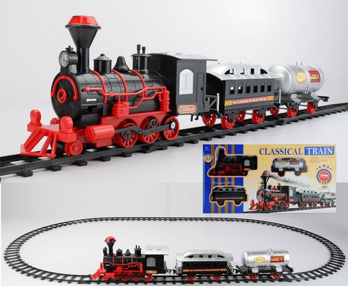 13-Piece Battery Operated Lighted and Animated Christmas Express Train Set  with Sound - 31758934