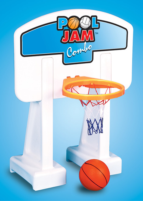 White Pool Jam Basketball and Volleyball Swimming Pool Water Sports Combo Game - IMAGE 1