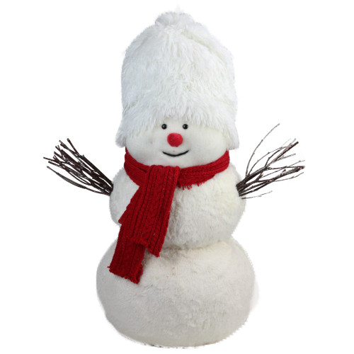 """24.5"""" Red and White Snowman with Scarf Christmas Tabletop Decor - IMAGE 1"""