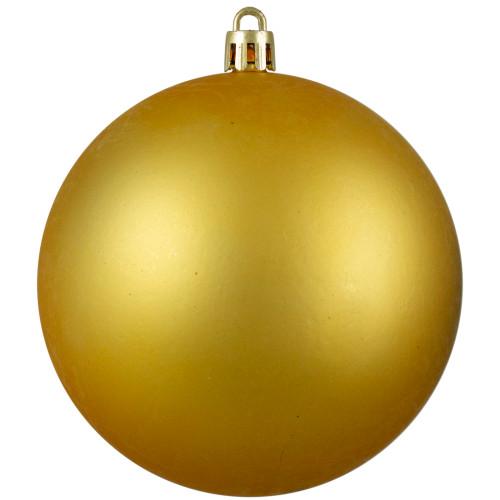 "Matte Vegas Gold Shatterproof Christmas Ball Ornament 4"" (100mm) - IMAGE 1"