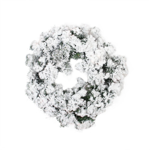 Heavily Flocked Pine Artificial Christmas Wreath - 24-Inch, Unlit - IMAGE 1