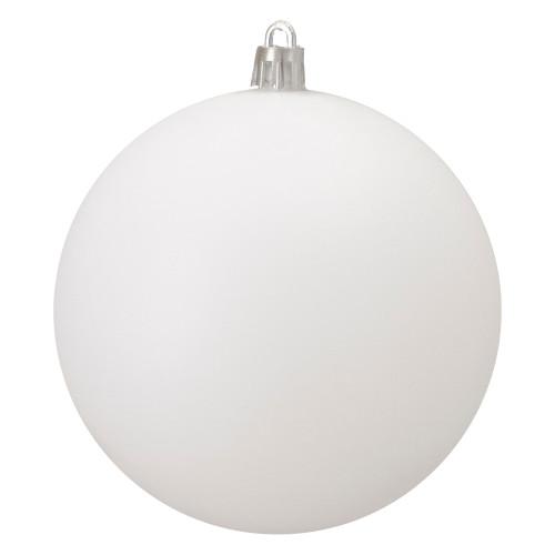 "Matte White Shatterproof Christmas Ball Ornament 4"" (100mm) - IMAGE 1"