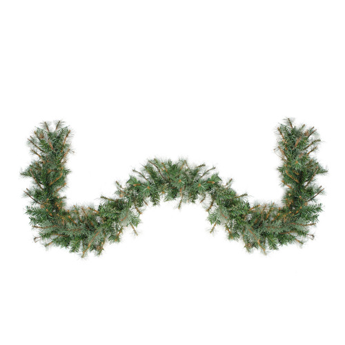 """6' x 9"""" Country Mixed Pine Artificial Christmas Garland - Unlit - IMAGE 1"""
