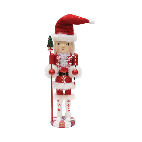 """18.5"""" Red and White Mrs. Claus Christmas Nutcracker - IMAGE 1"""