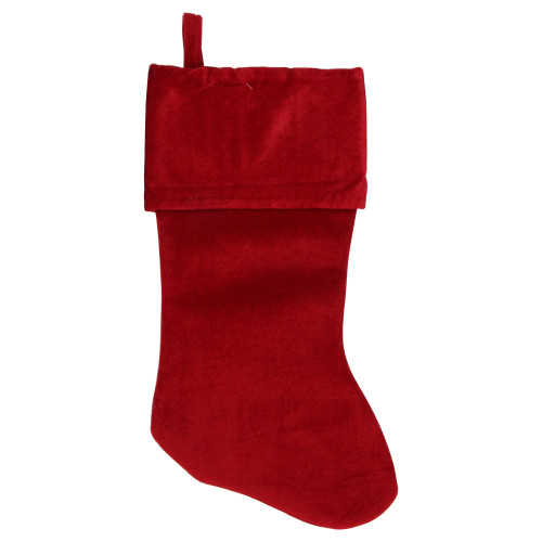 """18"""" Solid Red Traditional Hanging Christmas Stocking - IMAGE 1"""