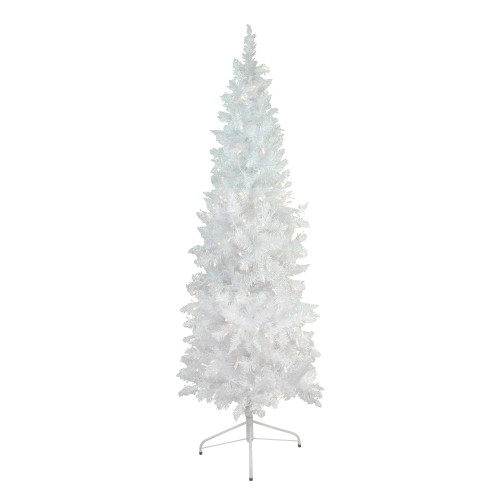 6' Pre-Lit Glimmer Iridescent Spruce Artificial Christmas Tree - Clear Lights - IMAGE 1
