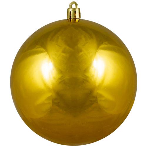 "Shiny Vegas Gold Shatterproof Christmas Ball Ornament 4"" (100mm) - IMAGE 1"