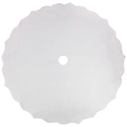 """38"""" White Scalloped Edge Christmas Tree Skirt - IMAGE 1"""