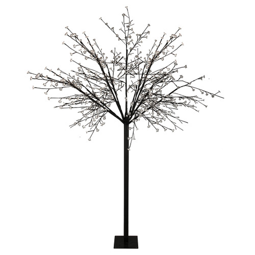 8' Multi-Function LED Lighted Cherry Blossom Flower Tree - Pure White Lights - IMAGE 1