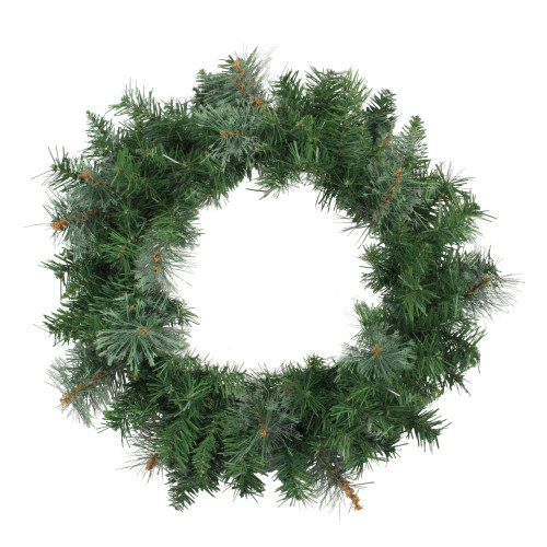 Mixed Cashmere Pine Artificial Christmas Wreath - 24-Inch, Unlit - IMAGE 1