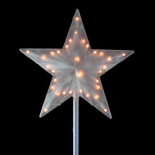 "15"" Lighted Clear Twinkling Star Christmas Tree Topper - Clear Lights - IMAGE 1"