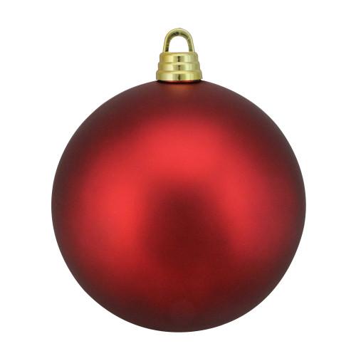 "Red Hot Shatterproof Matte Christmas Ball Ornament 12"" (300mm) - IMAGE 1"