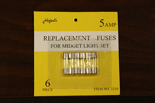 Pack of 6 Replacement Fuses For Mini Christmas Lights - 5 Amps - IMAGE 1