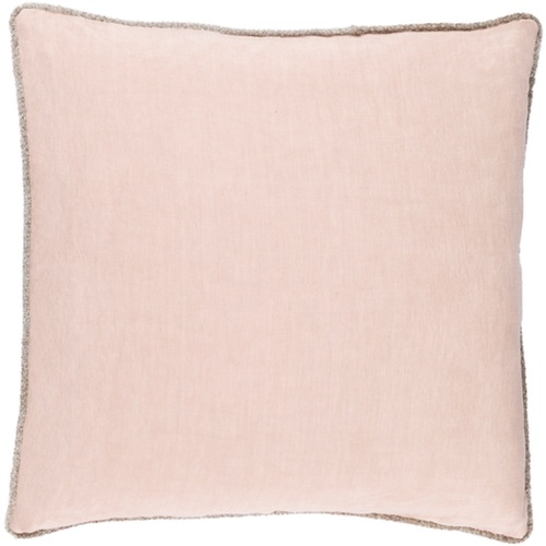 """18"""" Pastel Pink Decorative Square Throw Pillow - Down Filler - IMAGE 1"""