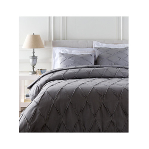 7.25' x 7.5' Gray Contemporary Style Full/Queen Duvet - IMAGE 1