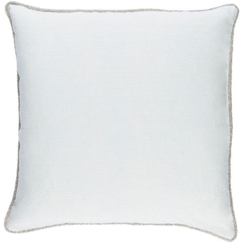 "20"" Ice Blue Decorative Square Throw Pillow - Down Filler - IMAGE 1"