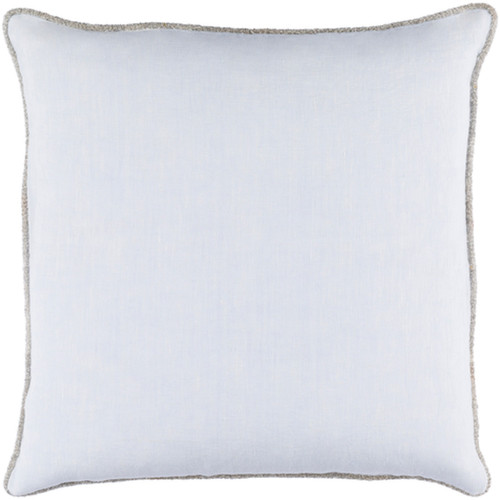 "20"" Pastel Blue Decorative Solid Square Throw Pillow - Down Filler - IMAGE 1"