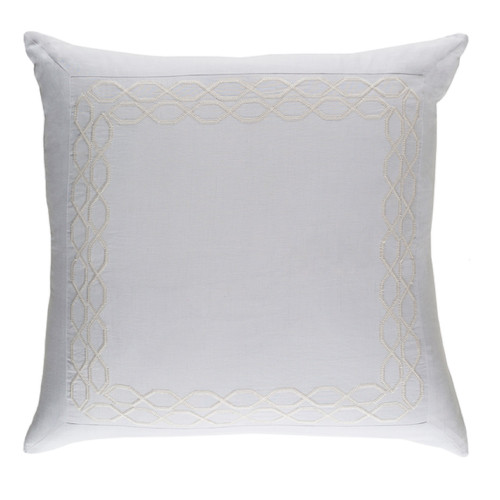 "26"" x 26""  White and Ivory Contemporary Euro Sham - IMAGE 1"