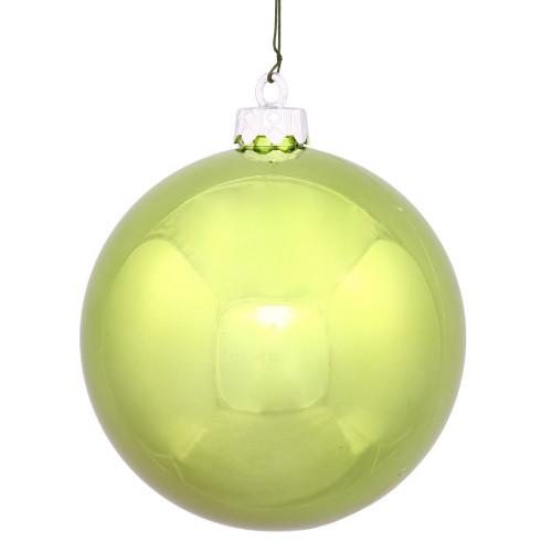 "Shiny Lime Green Shatterproof Christmas Ball Ornament 2.75"" (70mm) - IMAGE 1"