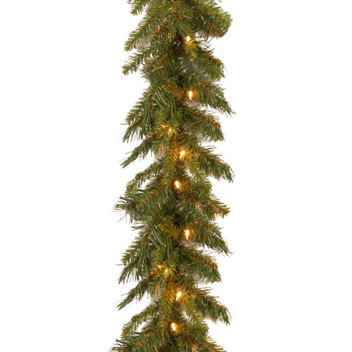 "9' x 10"" Pre-Lit Tiffany Fir Artificial Christmas Garland - Clear Lights - IMAGE 1"