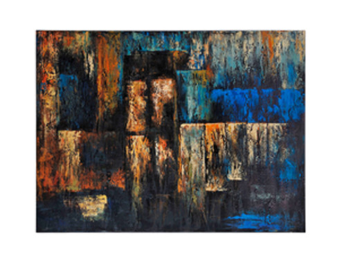 """36"""" x 48"""" Hand Painted Abstract Oil Painting on Canvas Wrapped on Frame - IMAGE 1"""