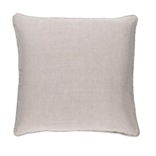 """20"""" Horizon Gray Solid Square Throw Pillow - Down Filler - IMAGE 1"""