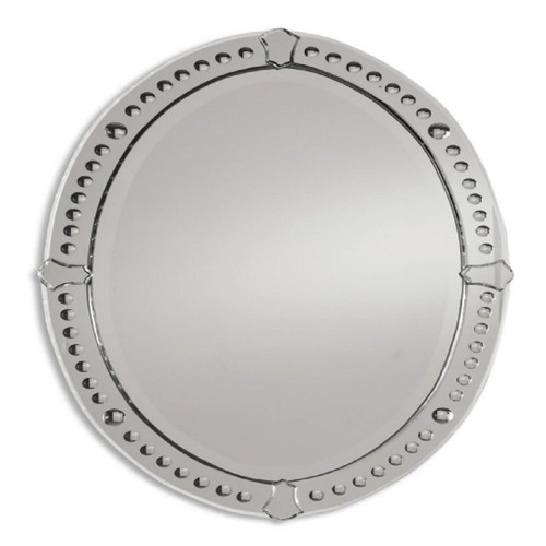 """34"""" Looking Glass Style Frameless Oval Beveled Wall Mirror - IMAGE 1"""