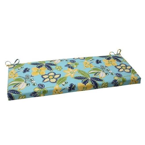 "45"" Multi-Color Solarium Summer Cottage Striped Outdoor Patio Bench Cushion - IMAGE 1"