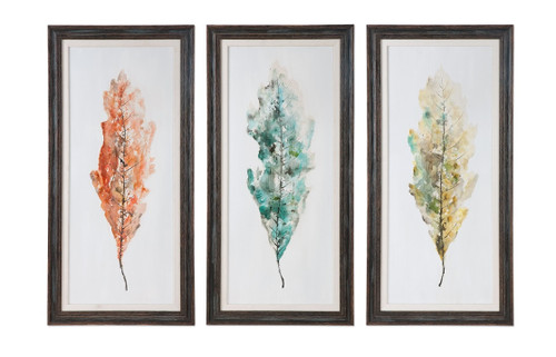 "Set of 3 Hand Painted Abstract Wall Art Prints 55"" - IMAGE 1"
