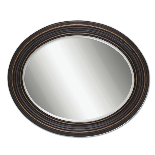 "34"" Olivia Oval Beveled Mirror with Dark Oil Rubbed Bronze Frame - IMAGE 1"