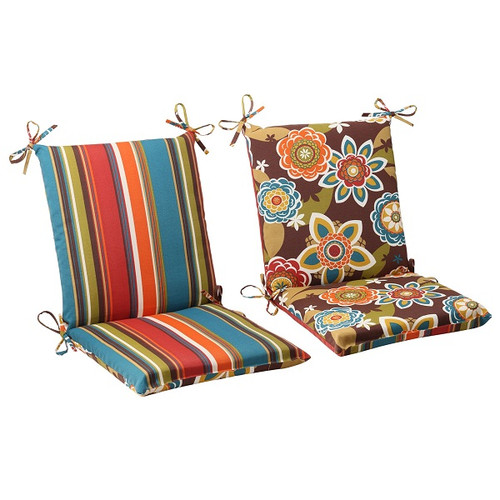 """36.5"""" Tahitian Chocolate Outdoor Patio Reversible Squared Chair Cushion - IMAGE 1"""