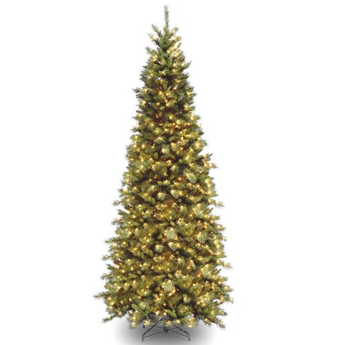 9' Pre-Lit Tiffany Fir Medium Artificial Christmas Tree – Clear Lights - IMAGE 1