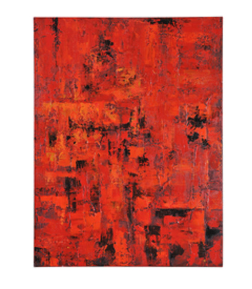 """48"""" x 36"""" Hand Painted Abstract Oil Painting on Canvas Stretched on Frame - IMAGE 1"""