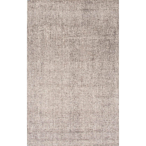 8' x 10' Gray and White Transitional Hand Tufted Rectangular Wool Area Throw Rug - IMAGE 1